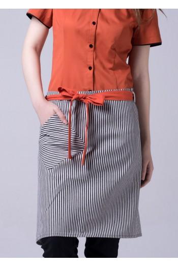 扎腰短圍裙