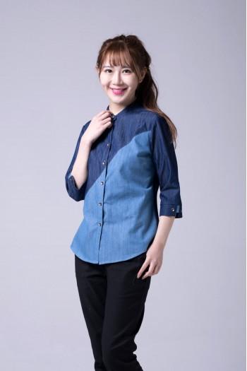女式長袖襯衫(七分袖)