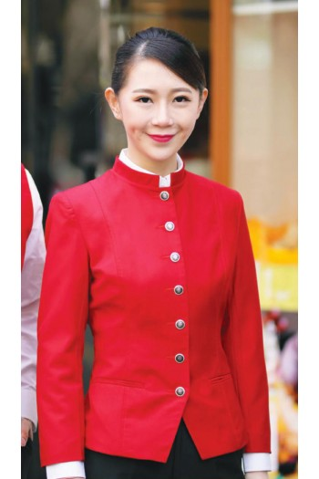 Ladies Stand Collar Jacket