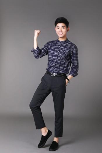 男式长袖衬衫