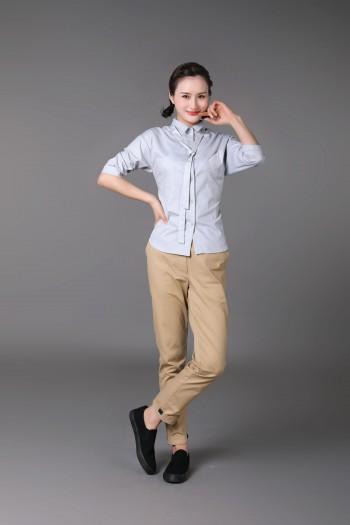 女式中袖衬衫