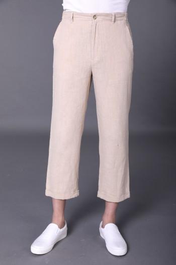 Men Crop Trousers