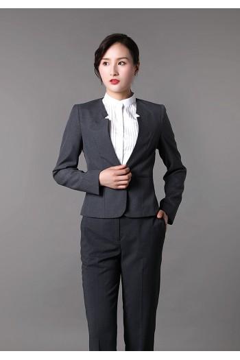 女式V领西装