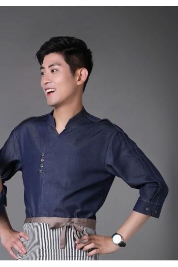 男式中袖衬衫(七分袖)