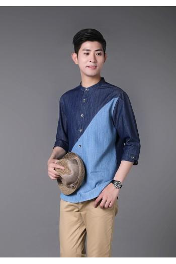 男式长袖衬衫(七分袖)