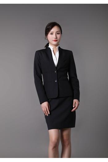 女式立领西装