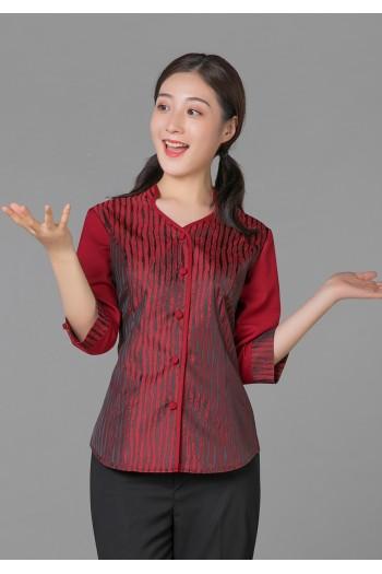 女式中袖上衣(七分袖)