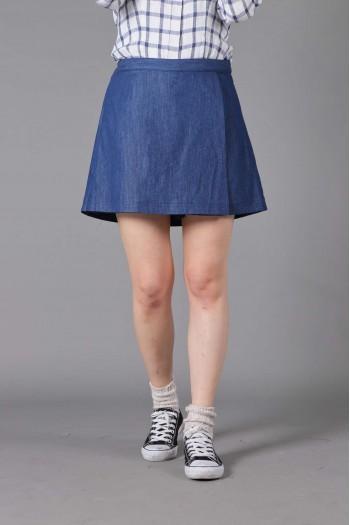 女式丹宁牛仔裤裙