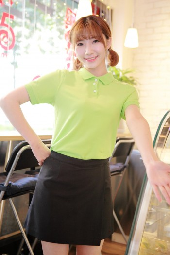 女生短袖Polo-T恤衫