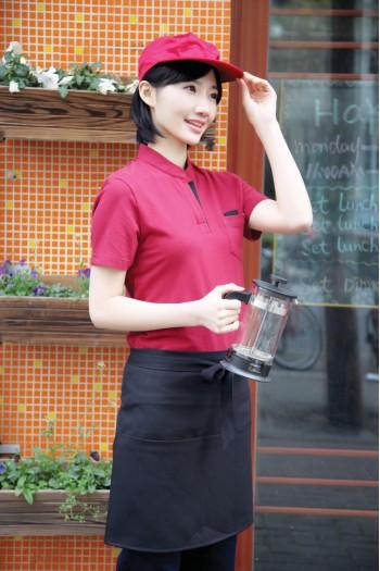 女生短袖立领T恤衫