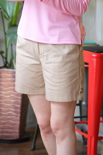 女腰可調節休閒短褲