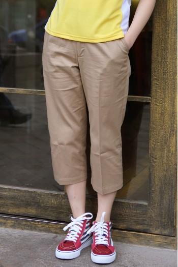 女腰可调节休闲中裤