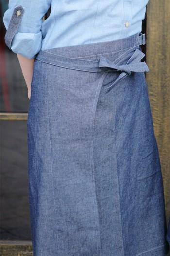 男女通用及膝圍裙